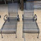 2 Matching Metal Chase Loungers - good condition!