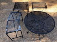 4 Misc smallish metal Patio Tables