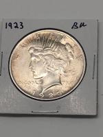 1923 Brilliant Uncirculated Peace Silver Dollar