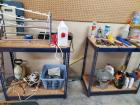 A pair of adjustable shelves and contents/tools