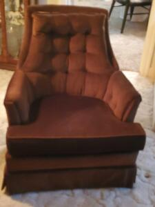 A massoud, sable, tufted chair