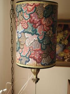"A stunning hanging light, the shade is 18"" tall, 12"" diameter"