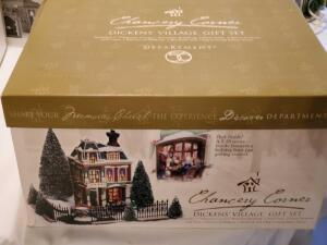 Department 56 Chancery corner dickens' village gift set