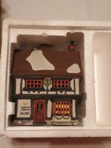 "Department 56 dickens'village series, ""tutbury printer"" (building only)"