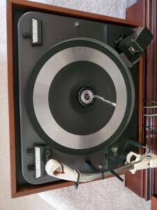 A vintage Garrard type a turntable