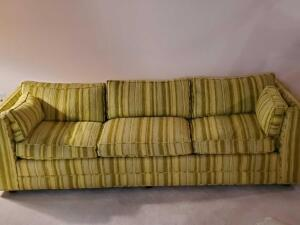 "A fabulous sofa, seat is 16"" tall, back is 24"" tall, 84"" across, 34"" front to back"