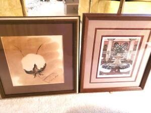 2 prints, Peabody pets by Louise dunavant, and a cotton boll