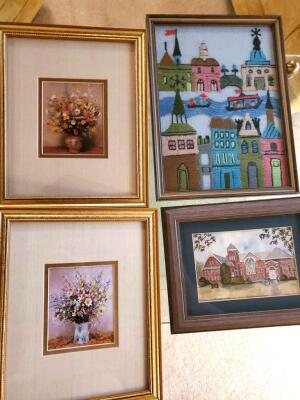 "A 12 piece grouping of wall decorations, all are under 14"" tall and 14"" wide"