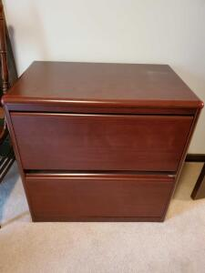 "Laterial file by sauder, 30"" tall, 31"" across, 20"" front to back"