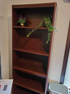 "Sauder library bookcase, 72"" tall, 28"" across, 12"" front to back"