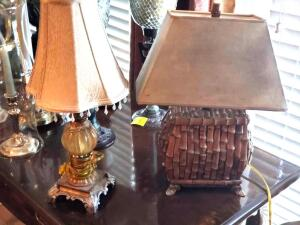 "A 21"" tall table lamp, and an 18"" tall lamp"