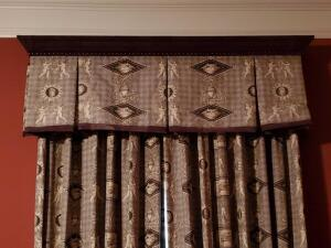 A set of 4 drapes with great valances