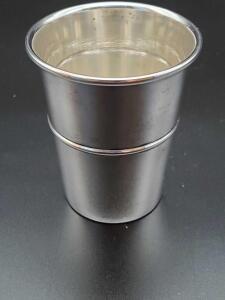 Small Sterling cup, shot size, weighing 23 grams.