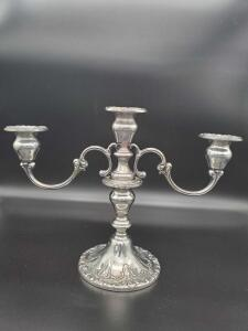 Gorham 750 Sterling candle holder weighing 664 grams.