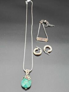 Sterling silver jewelry.