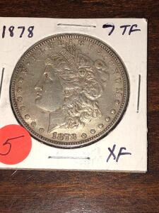1878 TKK FEKTHERS Morgan Silver dollar