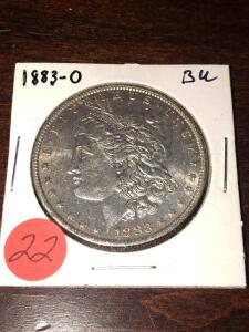 1883 - O Brilliant Uncirculated Morgan Silver Dollar