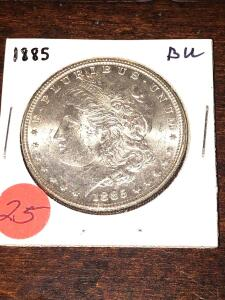 1885 Brilliant Uncirculated Morgan Silver Dollar