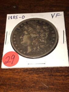 1885 - O - Morgan Silver Dollar