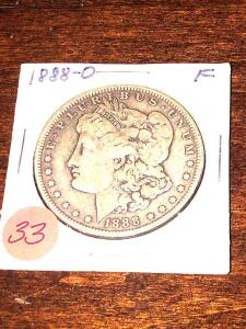 1888 - O - Morgan Silver Dollar