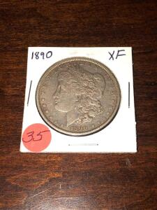 1890- Morgan Silver Dollar