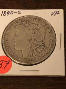 1890 S- Morgan Silver Dollar