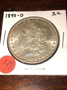 1898 - O Brilliant Uncirculated Morgan Silver Dollar