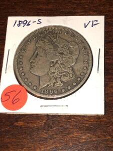 1896 - S Morgan Silver Dollar