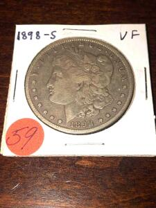 1898 - S Morgan Silver Dollar