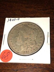 1901 - O Morgan Silver Dollar