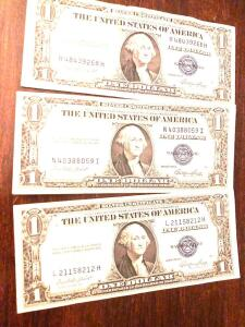 3 - 1935 $1 Silver Certificates