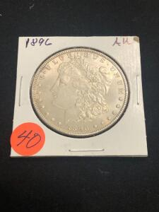 1896 Almost Uncirculated Morgan Silver Dollar
