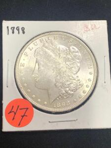 1898 Brilliant Uncirculated Morgan Silver Dollar