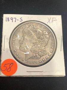 1897 - S Morgan Silver Dollar