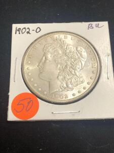 1902 - O Brilliant Uncirculated Morgan Silver Dollar