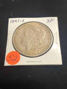 1891 - S Morgan Silver Dollar