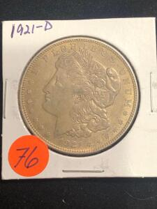 1921 - D Morgan Silver Dollar