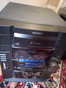 A Sony music system with nice speakers