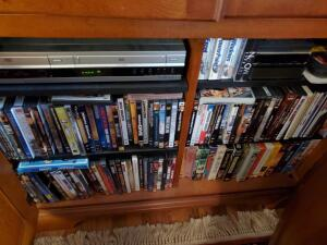 A Sony DVD/vhs player and a big lot of movies