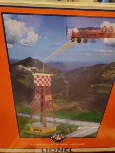 New in box! Lionel animated pylon with airplane