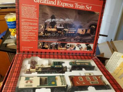 New in box, greatland Express train set