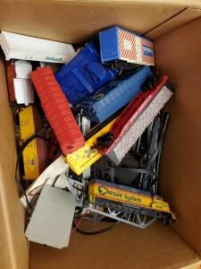 "A box of train ""stuff"""
