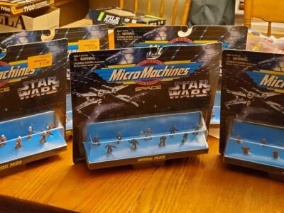 5 star wars micromachines figures, see pics for specifics