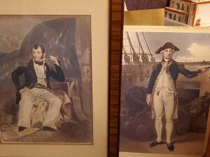 A pair of vintage prints, 1 is framed and matted