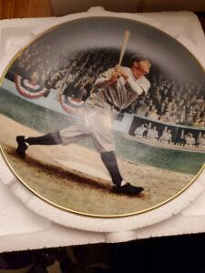 11 collector's plates, including legends of baseball babe Ruth, see pics for specifics