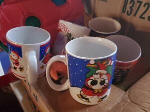 33 Christmas mugs, several brands