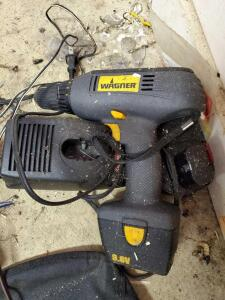 Wagner cordless drill. Has two batteries and charger. Untested.