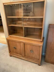 American furniture glass front China cabinet