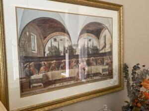 "Beautiful framed print of ""The Last Supper"""