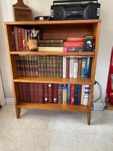 Small bookshelf includes everything on shelves